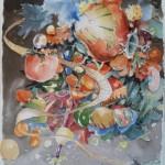 Au travers du Tallaïot, aquarelle, encre, crayons, 32x41cm, 2013