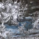 Cordoba, crayons, pierre noire et encres, 40 x50cm 2015