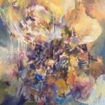Grande fleur, huile sur toile 130x97cm, 2008