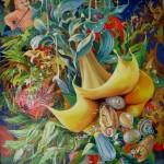Cupidon datura huile sur toile 92x73cm, 2012