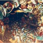 Lame de fond  huile sur toile 160x130cm 1989