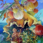 Cupidon mélomane, huile sur toile, 100x81cm, 2012
