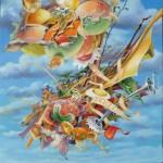 Phil lactaire,  huile sur toile, 130x97cm,  2013