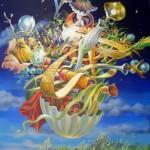 Eclaircie la vie, huile sur toile, 92x73cm,  sept2013