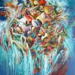 Surface!,  huile sur toile,100X81 cm, MAI 2013