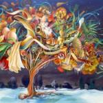 L'arbre à pied,  huile sur toile, 160x130cm  fev2013