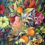 Cupidon aux oranges, 73x60cm, huile sur toile, mars 2012