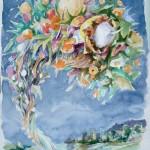 tornade, aquarelle, 30x40cm, 2013