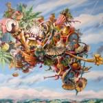 Attraction universelle, huile sur toile, 73x60cm, nov 2014