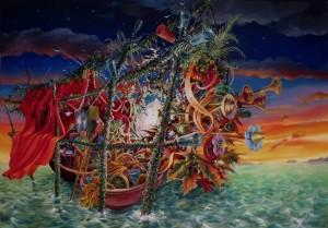 Pique nique, huile sur toile, 116 x 81 cm, dec15