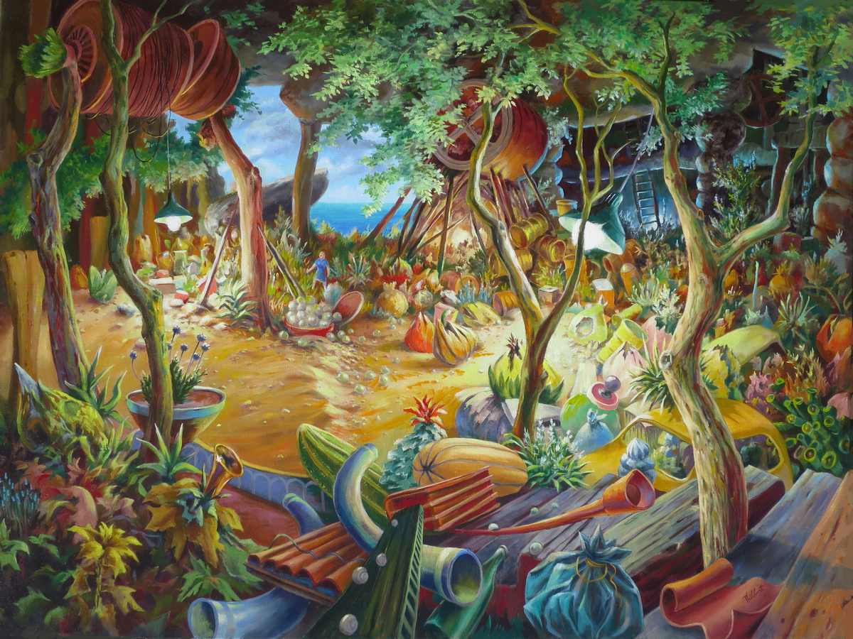 Au fil du temps, huile sur toile, 130 x 97 cm, 2018