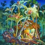 Forêt intimiste, huile sur toile, 92 x 73 cm 2018